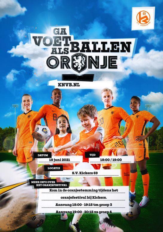 Leren voetballen? kom naar de Oranjedag